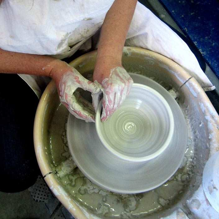 pot being made on wheel