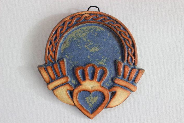 Blue claddagh wall plaque